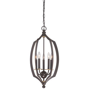 Middletown Downtown Bronze 14-Inch Five-Light Pendant