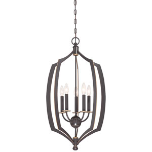 Middletown Downtown Bronze 17-Inch Five-Light Pendant