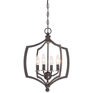 Middletown Downtown Bronze 16-Inch Four-Light Pendant