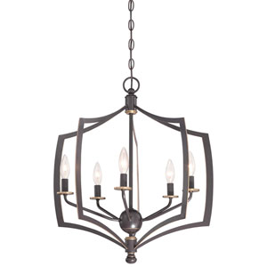Middletown Downtown Bronze 23-Inch Five-Light Pendant