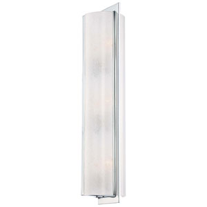 Clarte Chrome Three-Light Wall Sconce with White Iris Glass