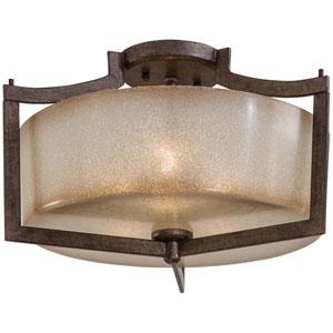 Clarte Patina Iron Three-Light Semi-Flush