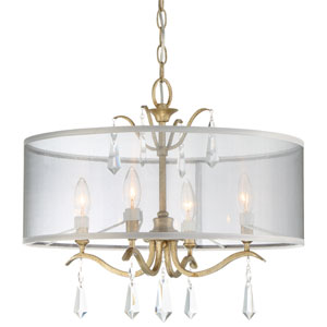 Laurel Estate Brio Gold Four-Light Semi-Flush Mount