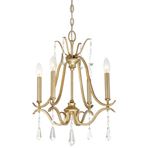 Laurel Estate Brio Gold Four-Light Chandlier