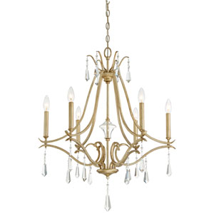 Laurel Estate Brio Gold Six-Light Chandlier