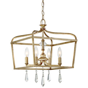Laurel Estate Brio Gold Four-Light 19-Inch Pendant