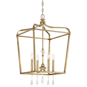 Laurel Estate Brio Gold Four-Light 17-Inch Wide Pendant