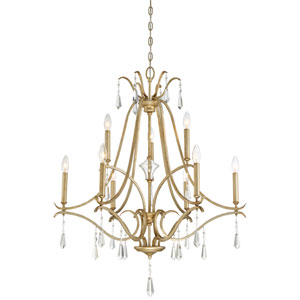 Laurel Estate Brio Gold Nine-Light Chandlier