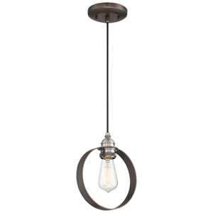Uptown Edison Harvard Court Bronze One-Light Mini Pendant