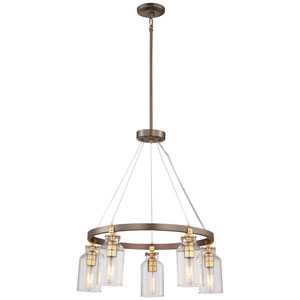Morrow Harvard Court Bronze Five-Light Chandelier