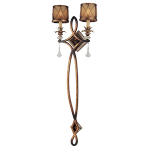 Aston Court Bronze Two-Light Pin-Up Wall Sconce