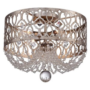 Lucero Florentine Silver Four-Light Flush Mount