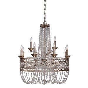 Lucero Florentine Silver 15-Light Chandelier