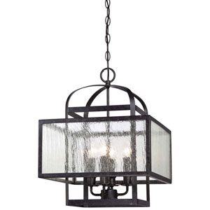 Camden Square Aged Charcoal Four-Light Mini Chandelier