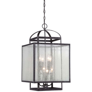 Camden Square Aged Charcoal Eight-Light Foyer Pendant