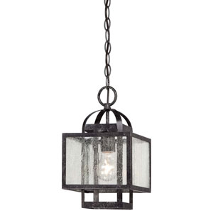 Camden Square Aged Charcoal One-Light Mini Pendant