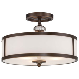 Thorndale Three-Light Light Semi-Flush Mount in Dark Noble Bronze