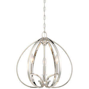 Tibury Polished Nickel Three-Light Mini Chandlier