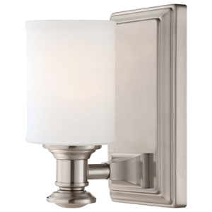 Harbour Point Brushed Nickel One Light Bath Fixture