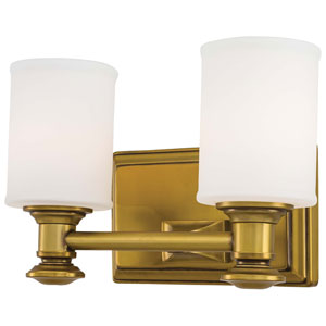 Harbour Point Liberty Gold Two-Light Bath Fixture