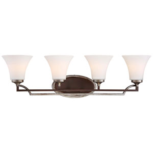 Astrapia Dark Rubbed Sienna 32-Inch Four-Light Vanity Fixture