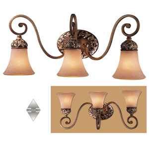 Salon Grand Three-Light Bath Fixture