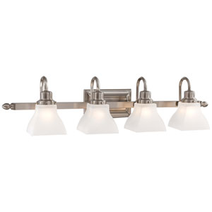 Mission Ridge Nickel Four-Light Bath Bar