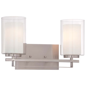Parsons Studio Brushed Nickel 15-Inch Two-Light Bath Sconce
