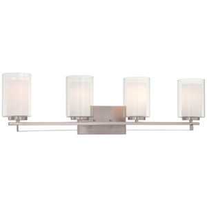 Parsons Studio Brushed Nickel 32.5-Inch Four-Light Vanity Fixture