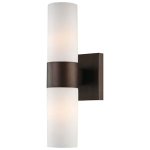 Copper Bronze Patina Two-Light Wall Sconce