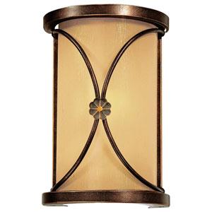 Atterbury Deep Flax Bronze One-Light Wall Sconce with Venata de Oro Glass