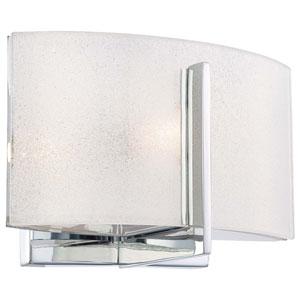 Clarte Chrome One-Light Bath Fixture with White Iris Glass