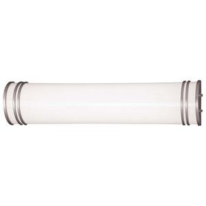 Silver Medium Fluorescent Bath Fixture