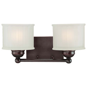1730 Series Lathan Bronze Two-Light Bath Bar Light