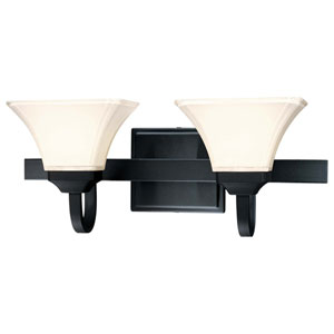 Agilis Black Two-Light Bath Fixture