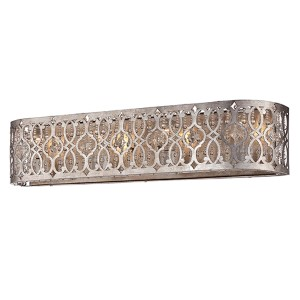Lucero Florentine Silver Four-Light Bath Vanity