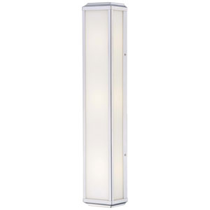 Daventry Polished Nickel Three-Light Wall Sconce with White Glass