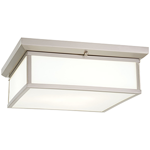 Brushed Nickel 16-Inch LED Flush Mount