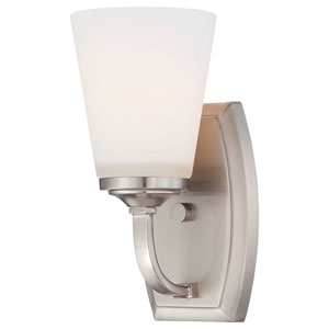 Overland Park Brushed Nickel One Light Bath Fixture