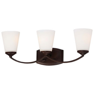 Overland Park Vintage Bronze Three-Light Bath Vanity