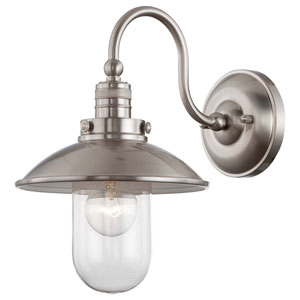 Downtown Edison Brushed Nickel One Light Wall Sconce