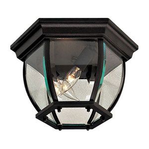 Black Three-Light Outdoor Lantern