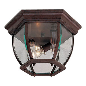 Antique Bronze Three-Light Outdoor Lantern Mount