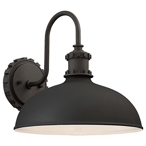 Escudilla Black 12-Inch One-Light Outdoor Wall Mount