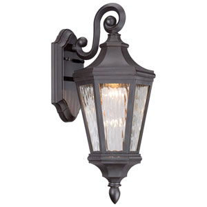 Hanford Pointe Oil Rubbed Bronze 8-Inch One-Light Outdoor LED Wall Lantern