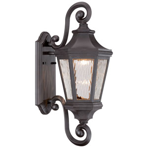 Hanford Pointe Oil Rubbed Bronze 9-Inch One-Light Outdoor LED Wall Lantern
