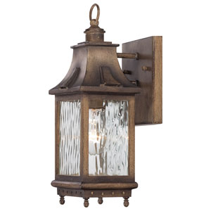 Wilshire Park One-Light Outdoor Wall Mount in Portsmouth Bronze