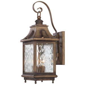 Wilshire Park Three-Light Outdoor Wall Mount in Portsmouth Bronze