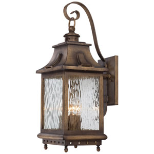 Wilshire Park Four-Light Outdoor Wall Mount in Portsmouth Bronze