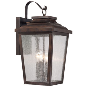 Irvington Manor Four-Light Outdoor Wall Mount in Chelesa Bronze